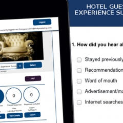 Unique Hotel Guest Experience Surveys Now from £75 Per Month
